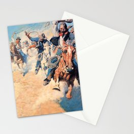 """""""Wild Spectacular Race"""" by NC Wyeth Stationery Cards"""