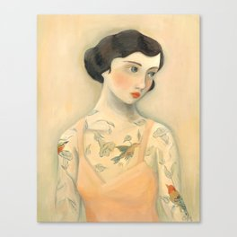 Tatooed Lady Rara Avis Canvas Print