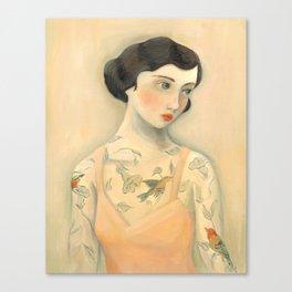 Tatooed Lady Rara Avis Canvas Print