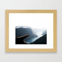 Trolltunga Framed Art Print