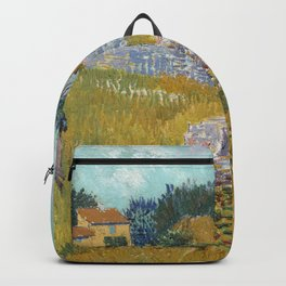 Vincent van Gogh Farmhouse in Provence 1888 Painting Backpack