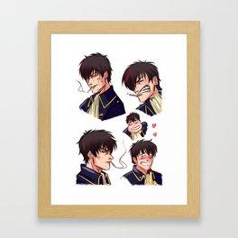 Hijikata Toushirou Framed Art Print