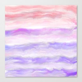 Abstract modern pink violet watercolor brushstrokes Canvas Print