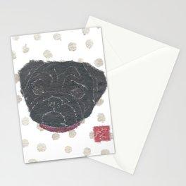 Black Pug, Dog Stationery Cards