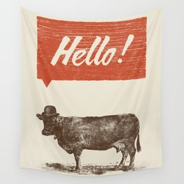 Hello ! Wall Tapestry