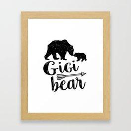 Gigi Bear Great Grandma Gift Framed Art Print