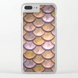copper mermaid scale Clear iPhone Case