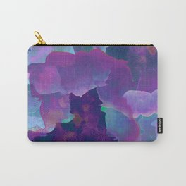 Purple, teal and blue abstract watercolor clouds Carry-All Pouch
