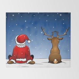 waiting for christmas Throw Blanket