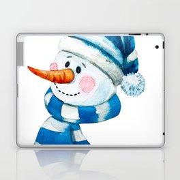 Blue Snowman 01 Laptop & iPad Skin
