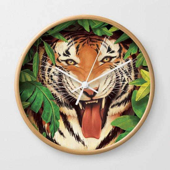Guardian of the Jungle Wall Clock