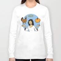 vegetable Long Sleeve T-shirts featuring Animal Vegetable by Mazed & Confused