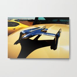 Airplane Hood Ornament Metal Print