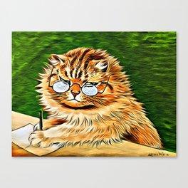 ORANGE TABBY CAT - Louis Wain's Cats Canvas Print