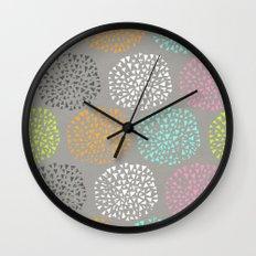 Flowers-triangles Wall Clock