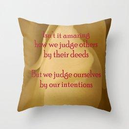 judgment Throw Pillow