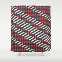 stripes Shower Curtains featuring Stripes by MissCrocodile63