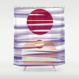 Abstract transparencies Shower Curtain
