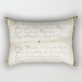 Christmas and birthday cards with poems by Joaquin Miller from Aladdins Lamp by Joaquin Millers poem Rectangular Pillow