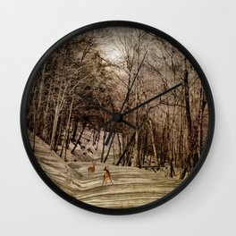 Mountain Path Wall Clock