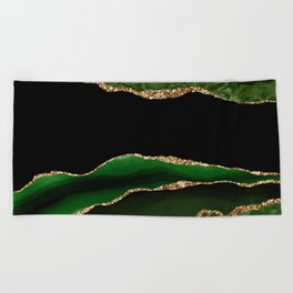 Emerald Marble Glamour Landscapes Beach Towel