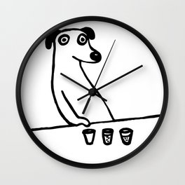 Drunk Dog T Shirt Graphic Wall Clock