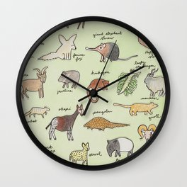 The Obscure Animal Alphabet Wall Clock