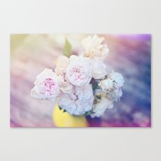 The Last Days of Spring - Old Roses III Canvas Print