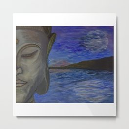 Calming Sunshine and Moonlight Buddha Metal Print
