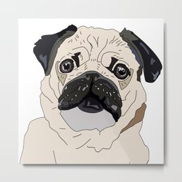 Pug Puppy Metal Print