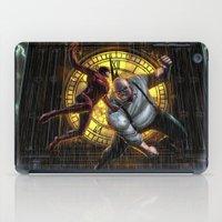 daredevil iPad Cases featuring Daredevil Vs KingPin by MonsterBox