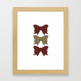 Vintage Purple Bows  Framed Art Print
