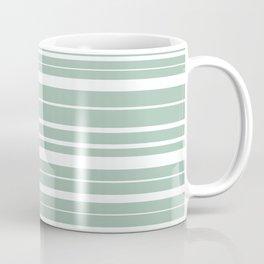 Light Spring Rain Celadon Green Stripes Pattern Coffee Mug