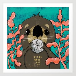 Otter Baby Art Print