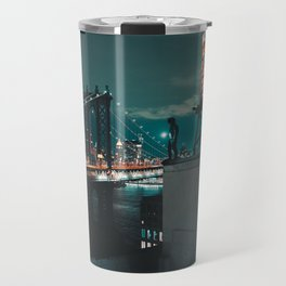 The Water Tower New York City (Color) Travel Mug