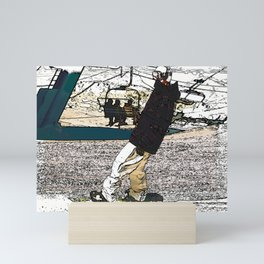 Sliding In - Snowboarder Fool Mini Art Print
