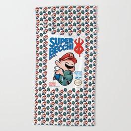 SUPER BECCI BROS. (V1) Beach Towel