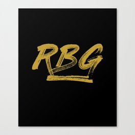Rbg Shirt Canvas Print