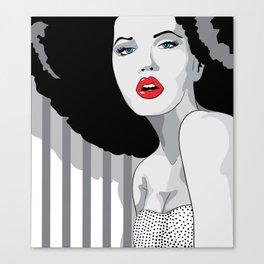 Woman hair Canvas Print