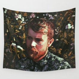 Flower Portrait Wall Tapestry