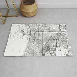 Vintage Map of Long Beach California (1964) BW Rug