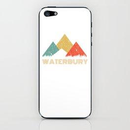 Retro City of Waterbury Mountain Shirt iPhone Skin