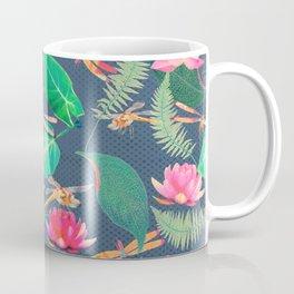 Lotus Flowers and Dragonflies Coffee Mug