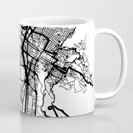 MEDELLIN COLOMBIA BLACK CITY STREET MAP ART Coffee Mug
