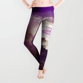 I Want To Believe - Purple Leggings
