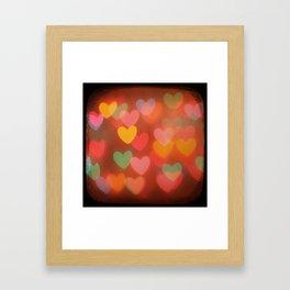 Heart Bokeh Framed Art Print