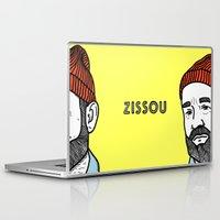 steve zissou Laptop & iPad Skins featuring Zissou #2 by Daniel Feldt