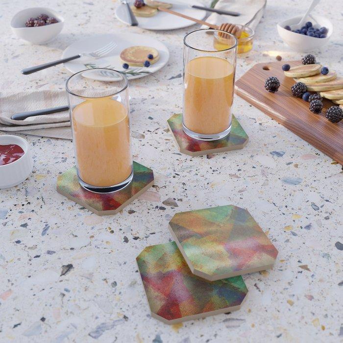 Colorful paint texture Coaster