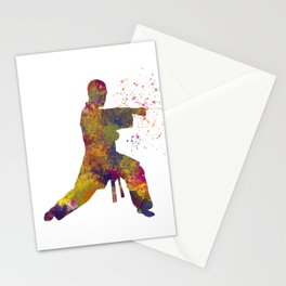 Taekwondo-karate competition in watercolors 07 Stationery Cards