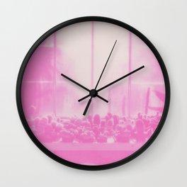 Pink Cacti Wall Clock